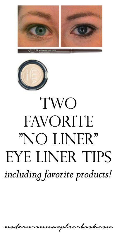 Favorite no-liner eye liner tips - including favorite products - moderncommonplacebook.com