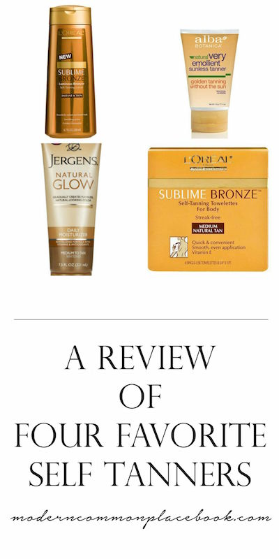 A Review of Four Favorite Self Tanners - A Modern Commonplace Book