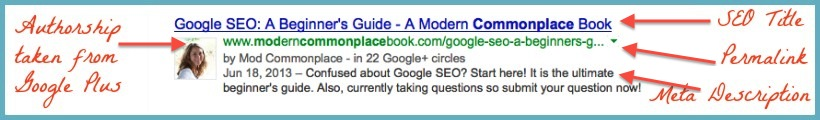 Google SEO Example