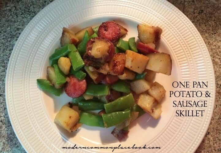 One Pan Potato and Sausage Skillet - A Modern Commonplace Book