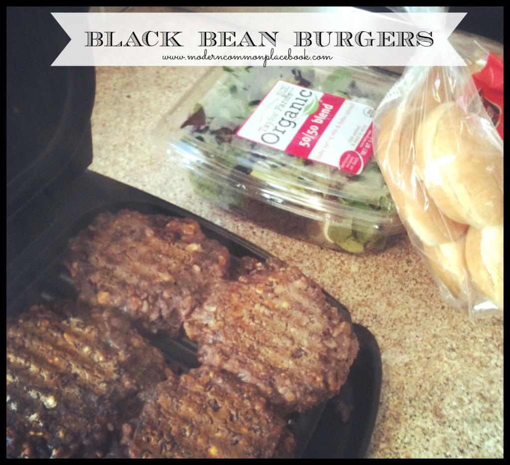 black bean burgers graphic