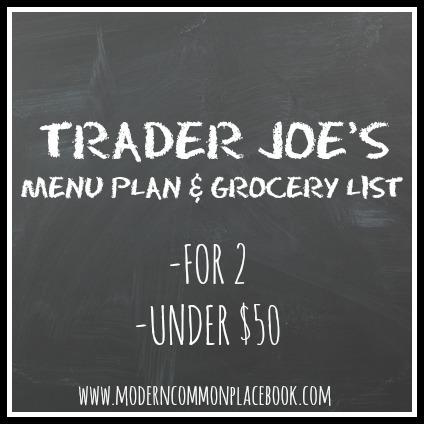 Trader Joes Menu Plan For 2