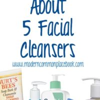 My Favorite Things:  Facial Cleansers
