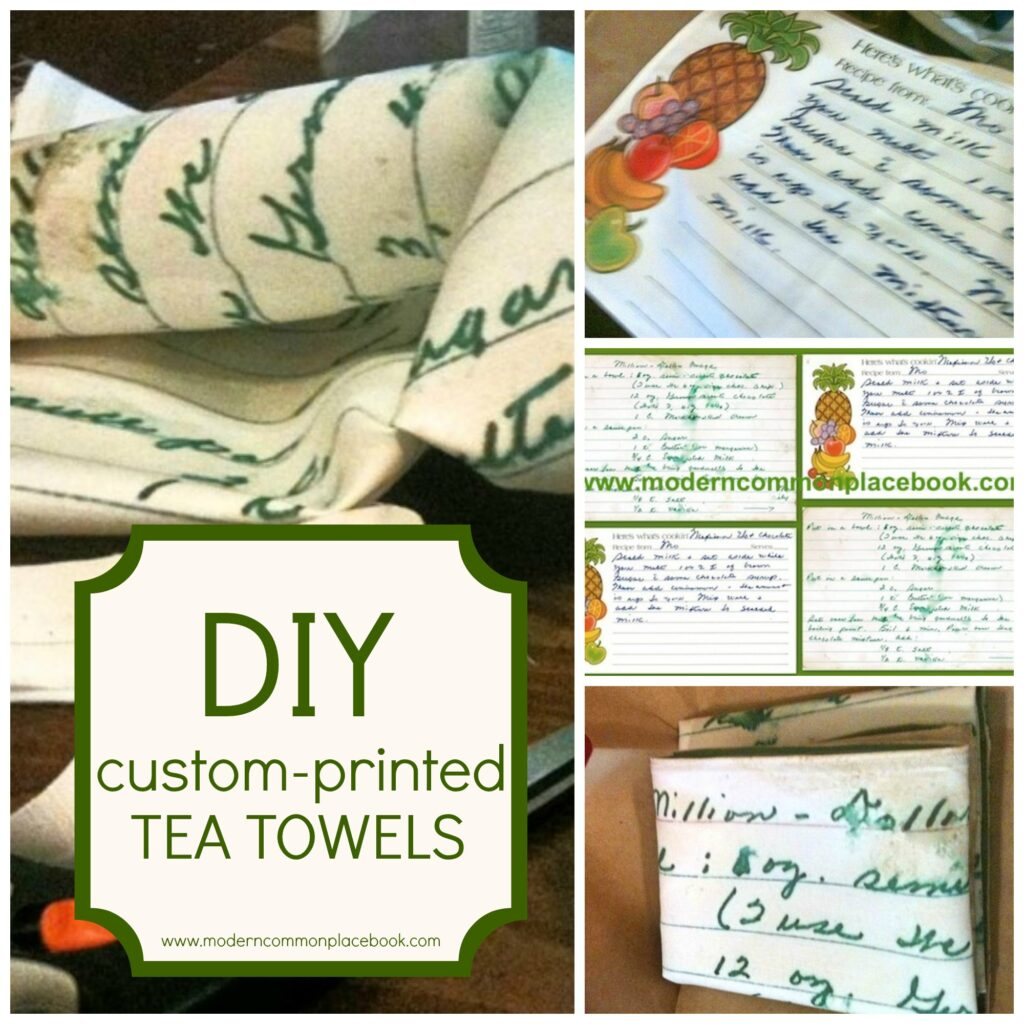 DIY Custom Printed Tea Towels