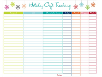 Holiday Gift Tracking