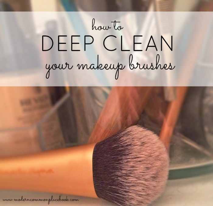 deep clean your makeup brushes