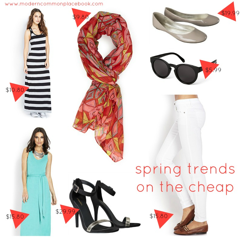 spring trends on the cheap