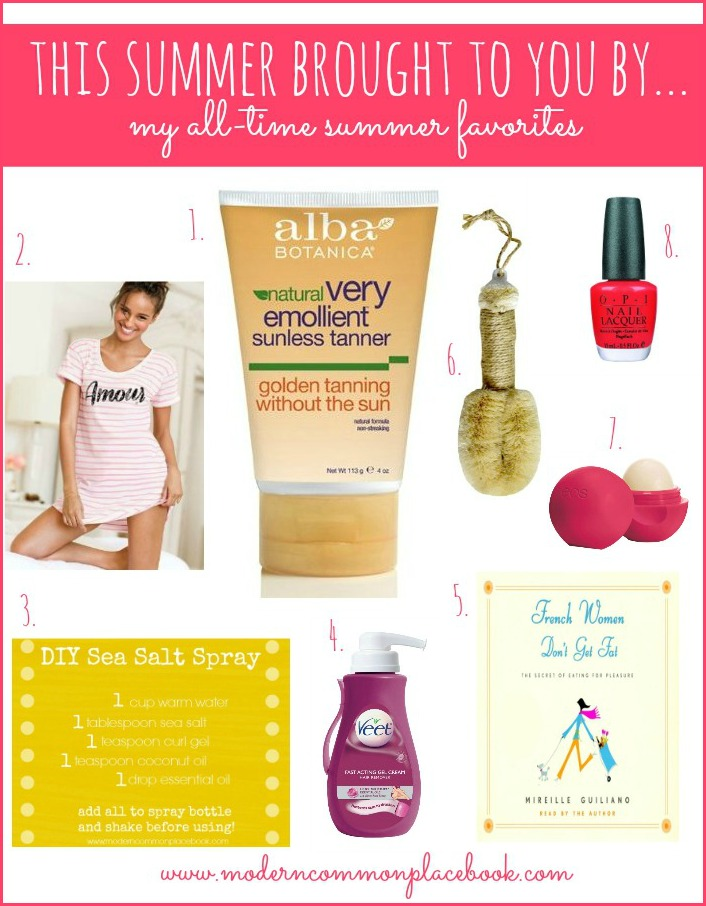 The best summer must haves for a standout summer! From nails, to body, to diet, to skin - it\'s all here! You will use these again and again. - summer favorites, summer must haves, get ready for summer, summer