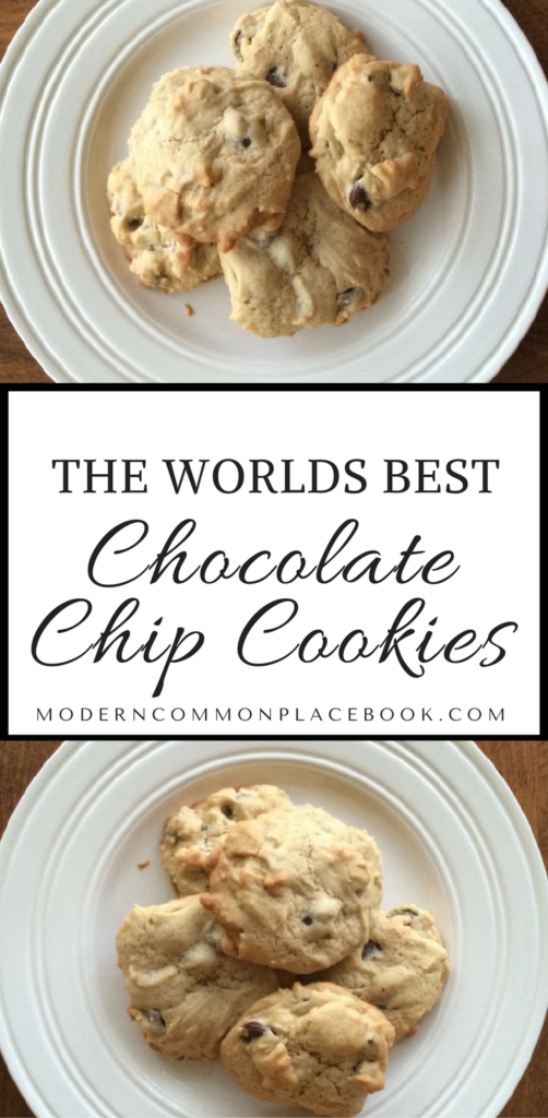 THE BEST chocolate chip cookies passed down from my mother-in-law. The secret is all the chocolate chips!! - A Modern Commonplace Book -- Chocolate chip cookies, easy chocolate dessert, chocolate chip cookies easy, chocolate chip cookies chewy, chocolate chip cookies recipe, chocolate chip cookies from scratch