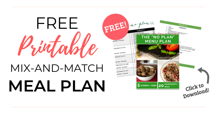 Free Printable Mix-and-Match Meal Plan