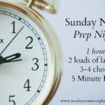 Sunday Night | Prep Night