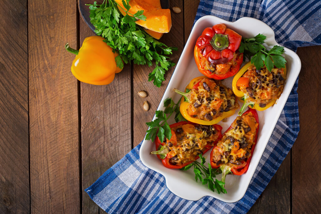 Everyday Stuffed Peppers (with an easy step by step video!)