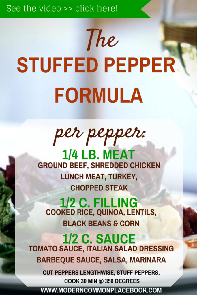 Easy Stuffed Peppers - The Perfect Formula - no recipe just a formula! (click here to watch the how to video)