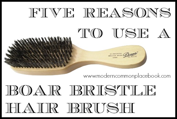 Five Reasons to use a Boar Bristle Hair Brush - and my favorite one for under $4!