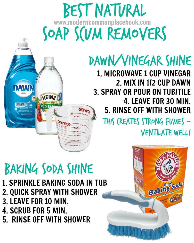 The Easiest Natural Soap Scum Remover Only 2 Ingredients