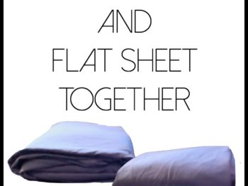 how to fold a fitted sheet and flat sheet together