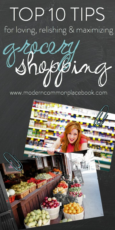 Top tips for grocery shopping - A Modern Commonplace Book