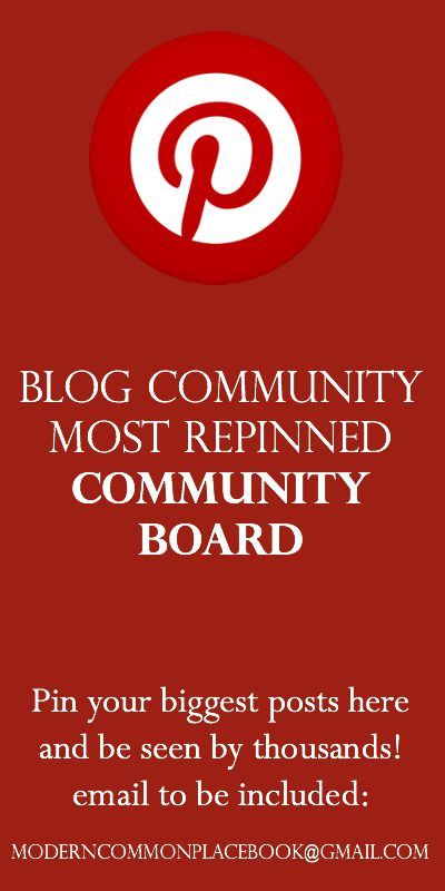 Join the Blog Community Most Pinned Community Board!