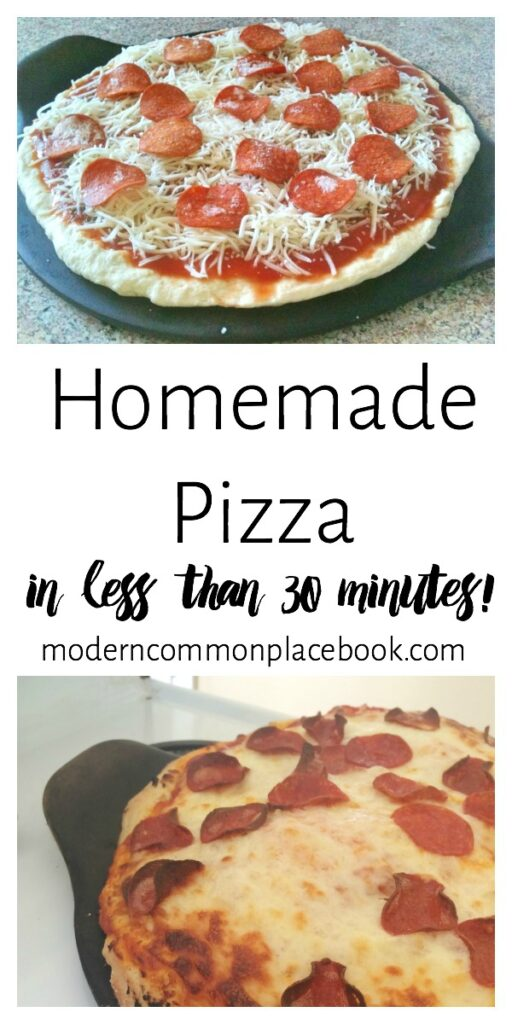 Pizza night?  This Homemade Pizza Dough recipe will give you the best, most flavorful pizza in less than 30 minutes. -- pizza crust, pizza dough, homemade pizza, easy pizza