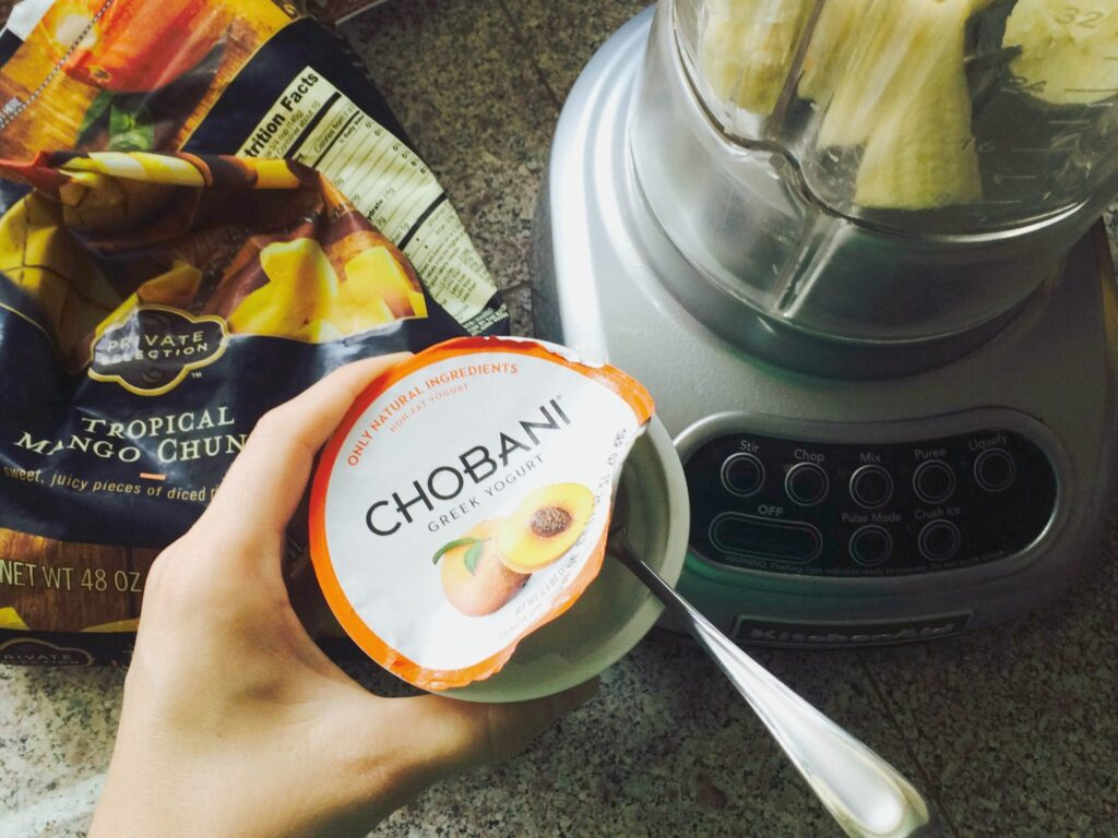 Orange Julius Breakfast Smooth - Made with Chobani! - only 4 ingredients
