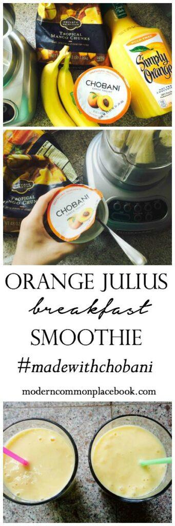 Orange Julius Breakfast Smoothie - Made with Chobani! (only 4 ingredients!)