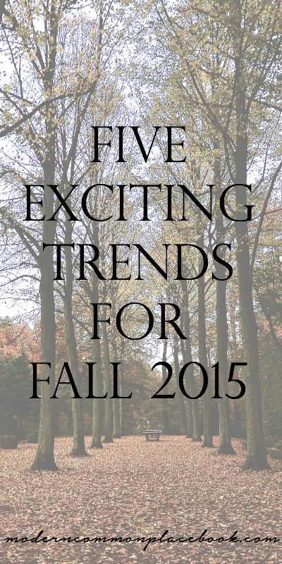 My favorite about fall? The leaves - the clothes - Fall TV. Well, all of it actually. - Five Exciting trends for Fall 2015