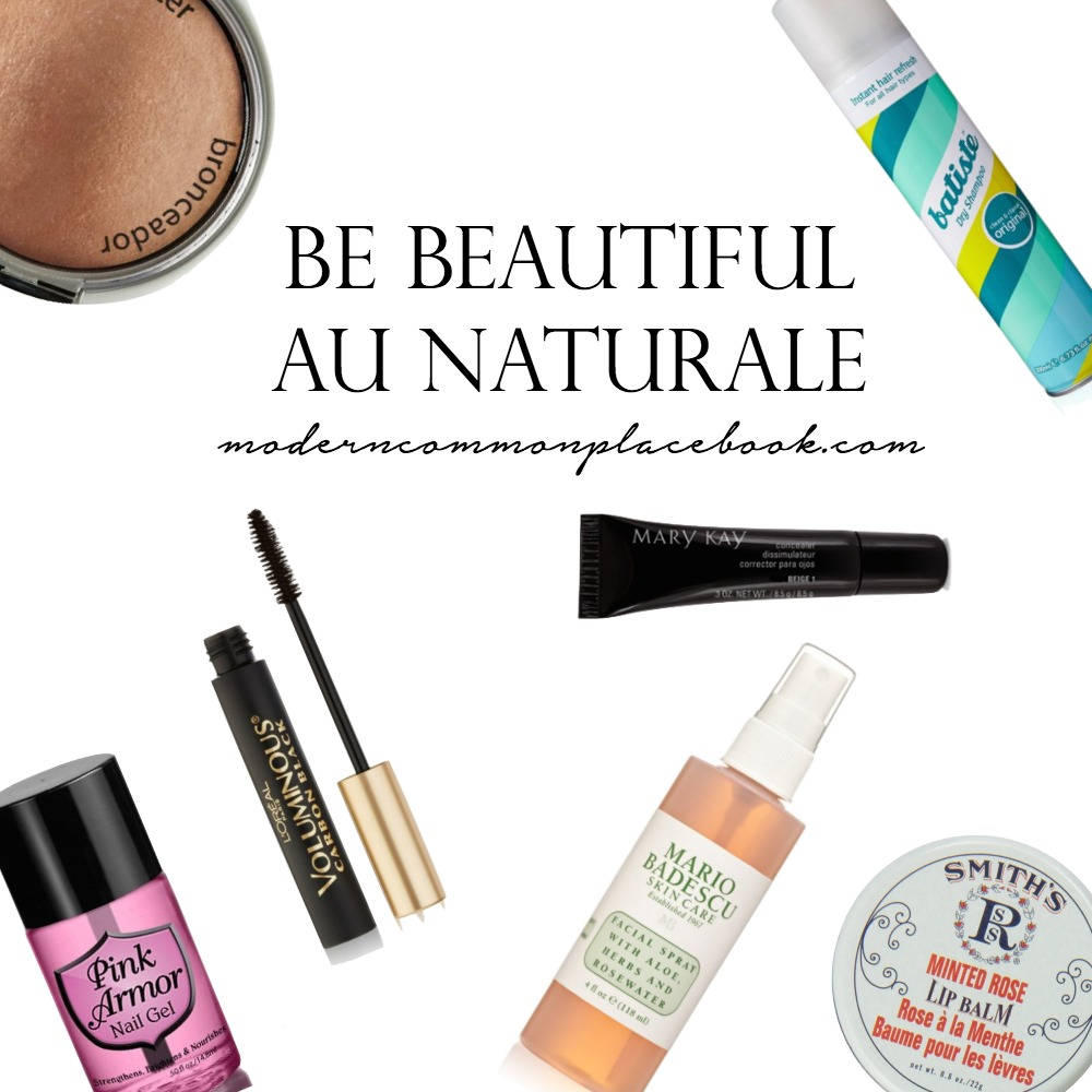 Natural Beauty Products for A Natural Look with A Modern Commonplace Book Blog