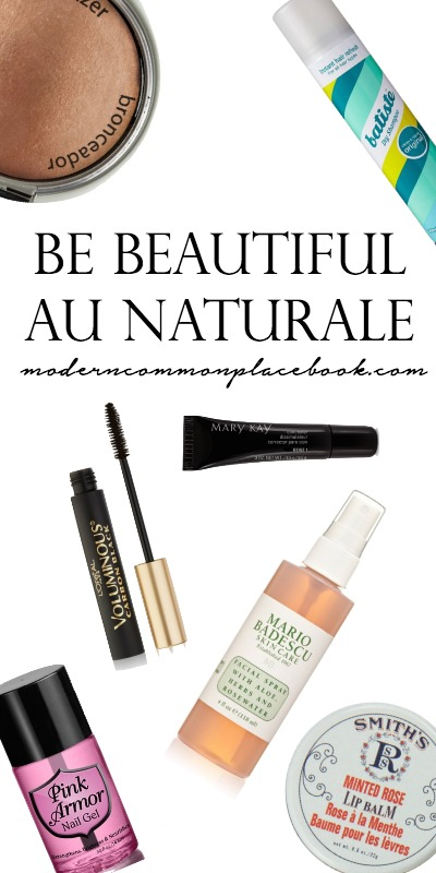 Beauty Products for a Natural Look with A Modern Commonplace Book