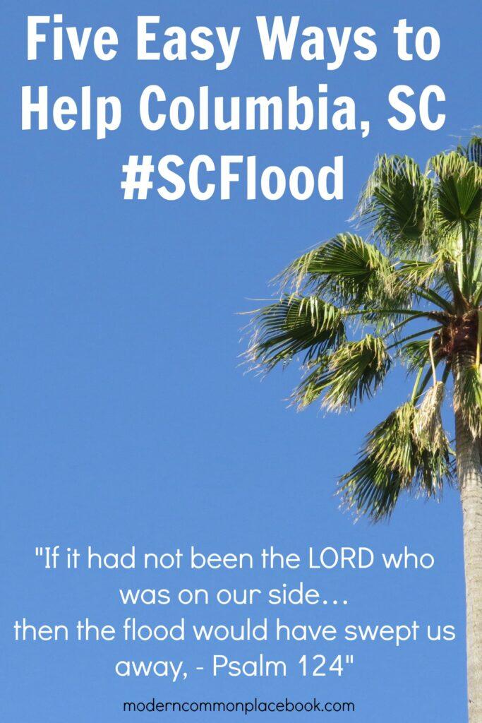 Five Easy Ways to help Columbia, SC #SCFlood