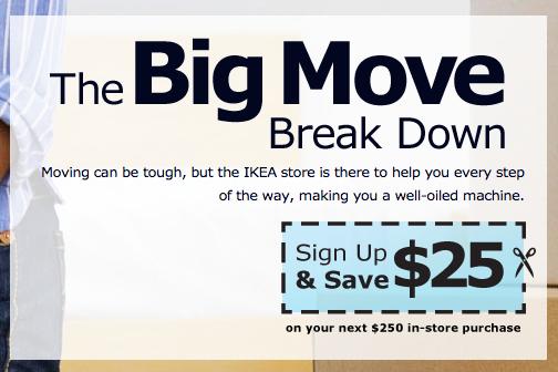 IKEA moving coupon