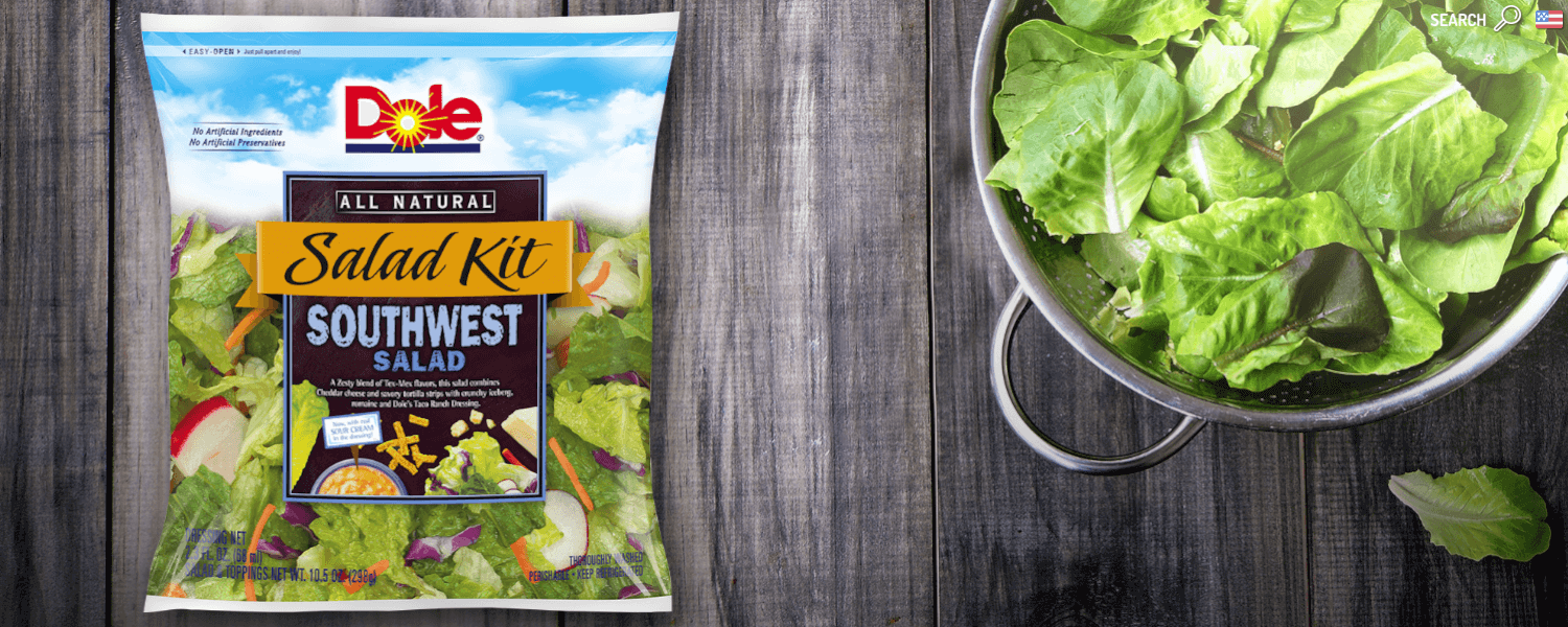dole's southwest salad kit - ways to eat more fruits and vegetables