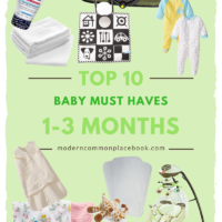Top 10 Baby Must Haves (1-3 Months)