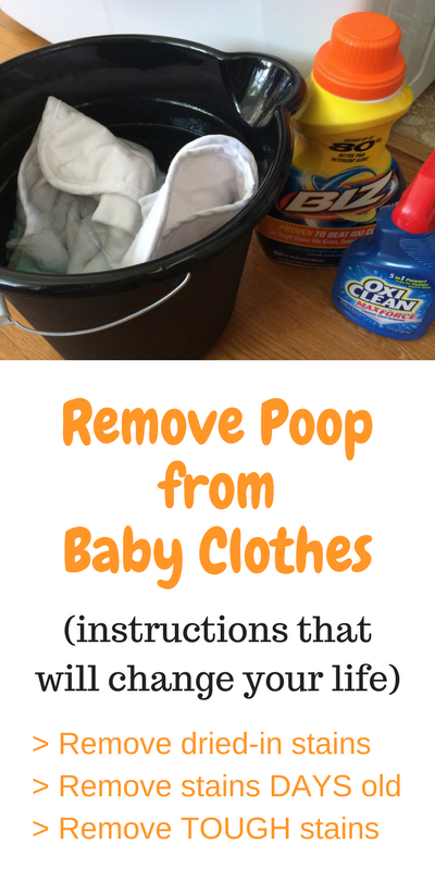 Instructions to Remove Poop from Baby Clothes (that will ...