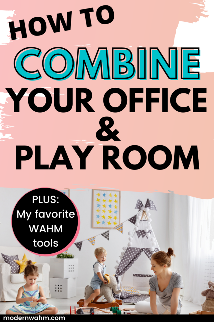 Combine your office and playroom. Work at home office ideas. combine office and playroom. work from home office with kids. work from home office kids. work from home with kids. work from home with a toddler. work from home with a baby. work from home office ideas small spaces. work from home office ideas small spaces storage. home office diy. office shelves. office room. basement office ideas. industrial home office. feminine office. small home office. #combineofficeandplay #workfromhomewithkids