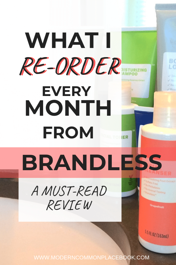 Brandless Review - a cheap, culture-conscience all-in-one grocery store!  Get your beauty products, household items, food, and favorite treats all for $3 each! My honest review.  Hint hint - I love it!  Brandless, natural body products, favorite brands, Brandless Reviews  --- Get $6 off here!
