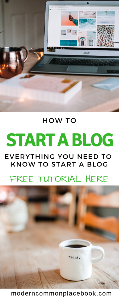 How to start a blog - everything you need to know to start a blog. Free tutorial here! How to start a blog, start a website, free tutorial blogging, blogging tutorial, blog hosting for beginners