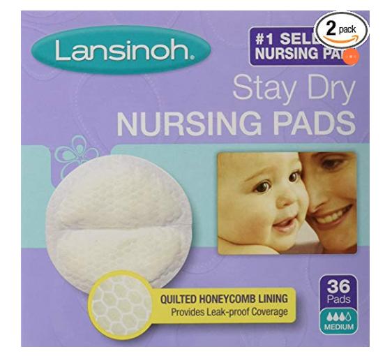 nursing pads - hospital bag checklist