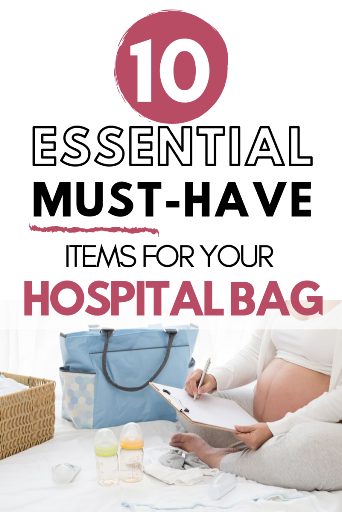 Simplify your baby preparations by only packing the most vital items in your hospital bag for you and your family. This is THE MOST accurate hospital bag checklist - hospital bag must haves, hospital bag checklist - what to pack in hospital bag for mom #wahm #sahm #pregnancy #maternity #hospitalbagchecklist #workingmom #stayathomemom