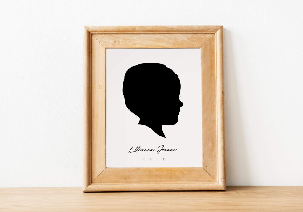 Hand Lettered Christmas Gifts - Check out Grain + Dot for Small Business Saturday! Custom Silhouette Potraits
