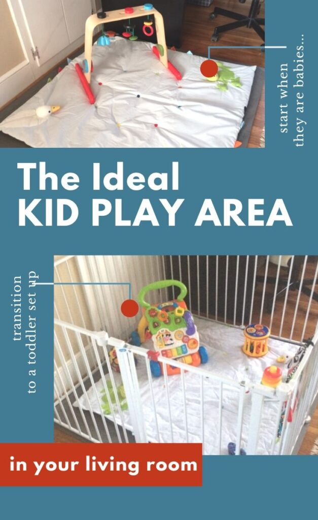 How to set up a baby play area near your desk
