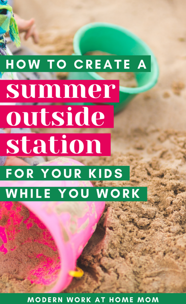Non-Screen Things to do with Kids during Summer...While You Work!