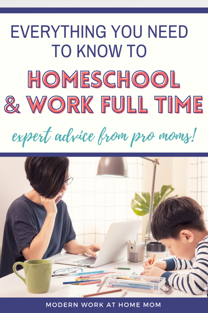 Homeschool and work full time. Everything you need to know to homeschool and work full time. Homeschool and work full time schedule. How to homeschool multiple grades. How to homeschool with a toddler. How to keep toddler busy during homeschool. How to make kindergarten homeschool fun. Homeschool schedule multiple. Homeschool schedule multiple kids free printable. Homeschool multiple kids ideas. Homeschool organization. #howtohomeschoolandworkfulltime #howtohomeschoolwithatoddler.