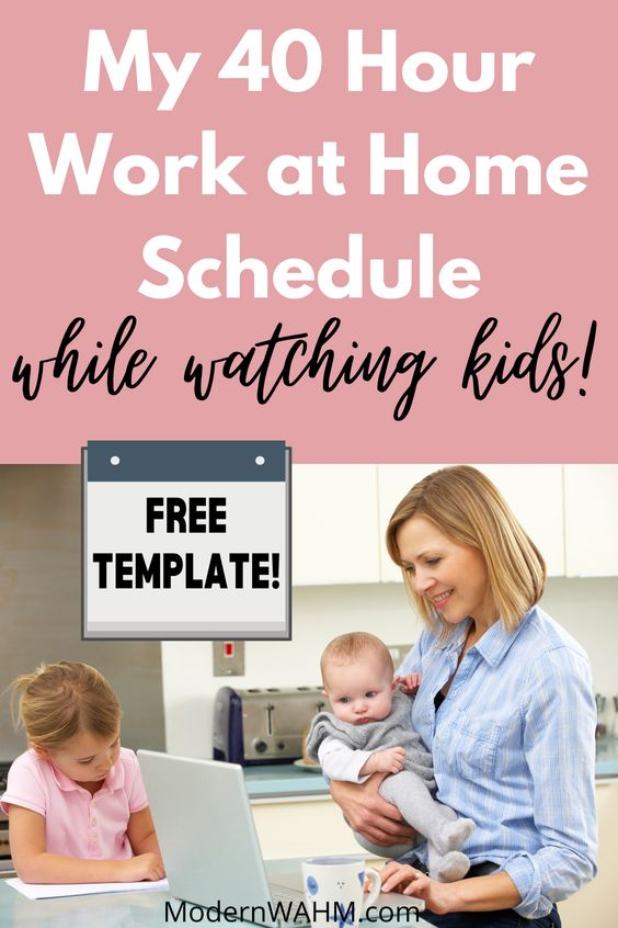 My 40-hour Work From Home Mom Schedule (Free Block Schedule Template!)