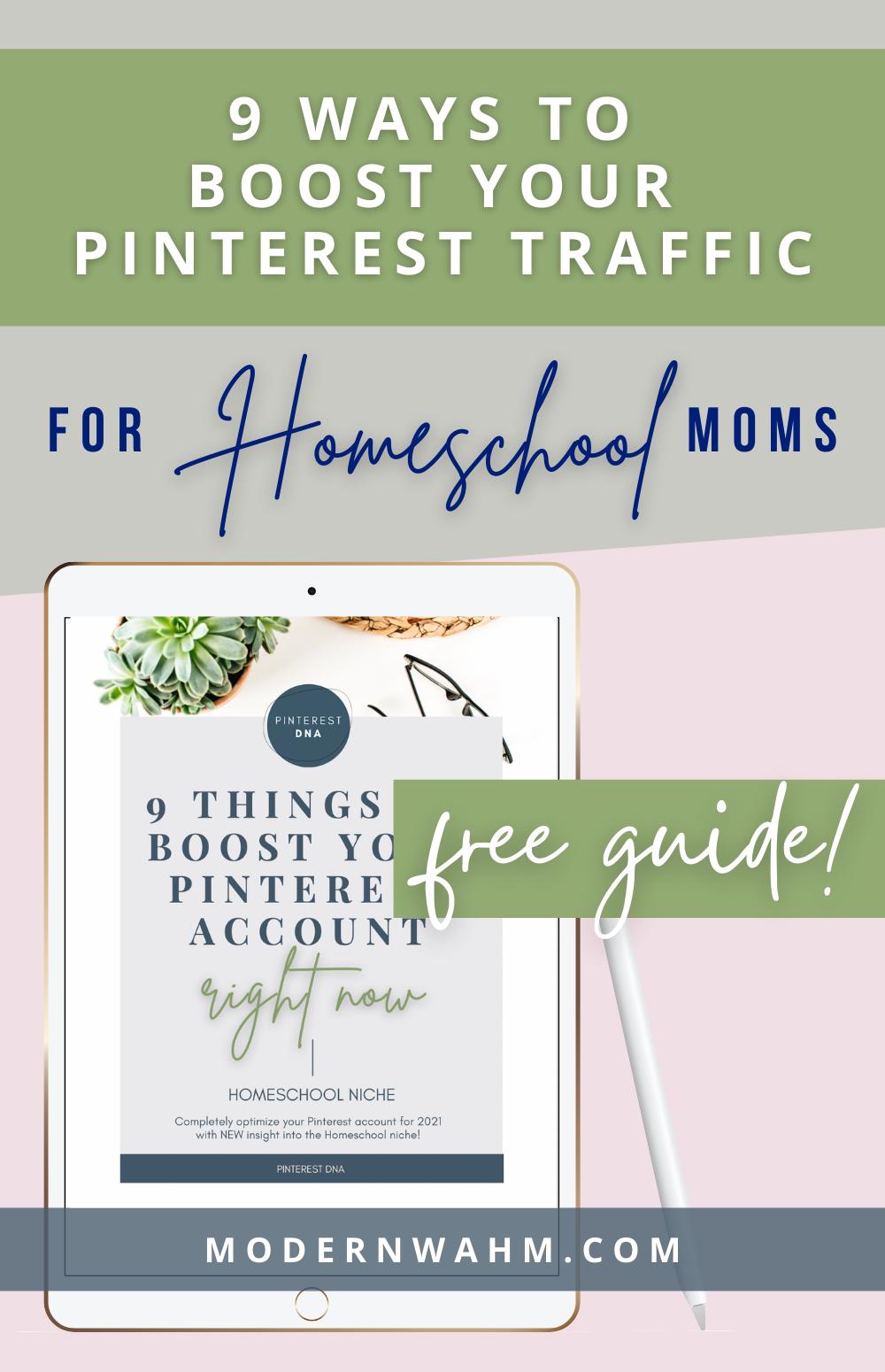 Pinterest DNA Resources for the Homeschool Niche